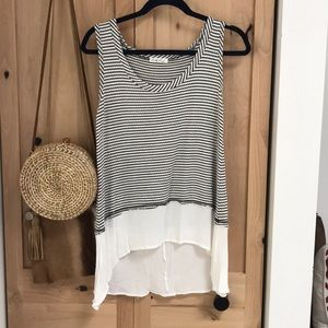 Tops - On The Road stripped tank top